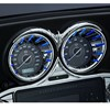 CHROME L.E.D. SPEEDO/TACH BEZELS  BLUE